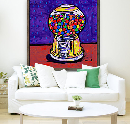 BUBBLE GUM MACHINE with Floating Frame