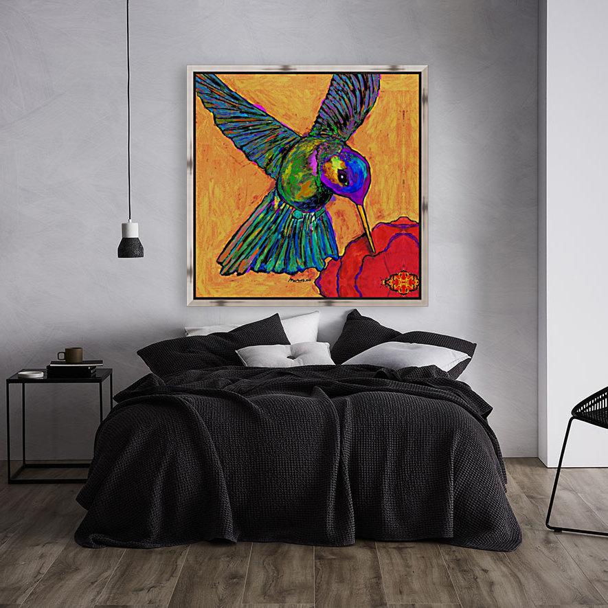 HUMMINGBIRD ON YELLOW  Art