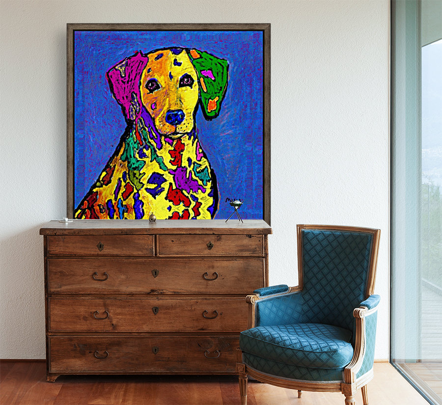 RAINBOW DALMATION  with Floating Frame
