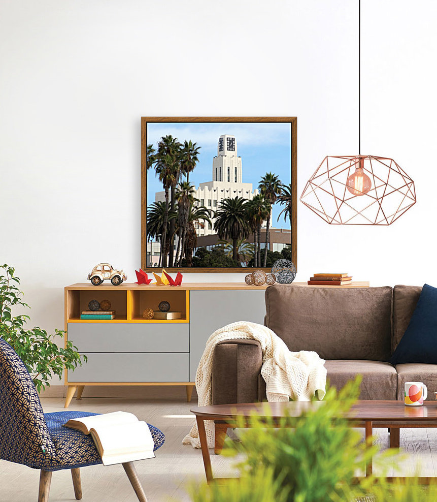 Clock Tower and Palm Trees  Art