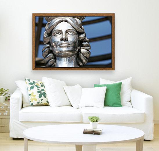 Silver Statue Face of Dorothy Dandridge  Art