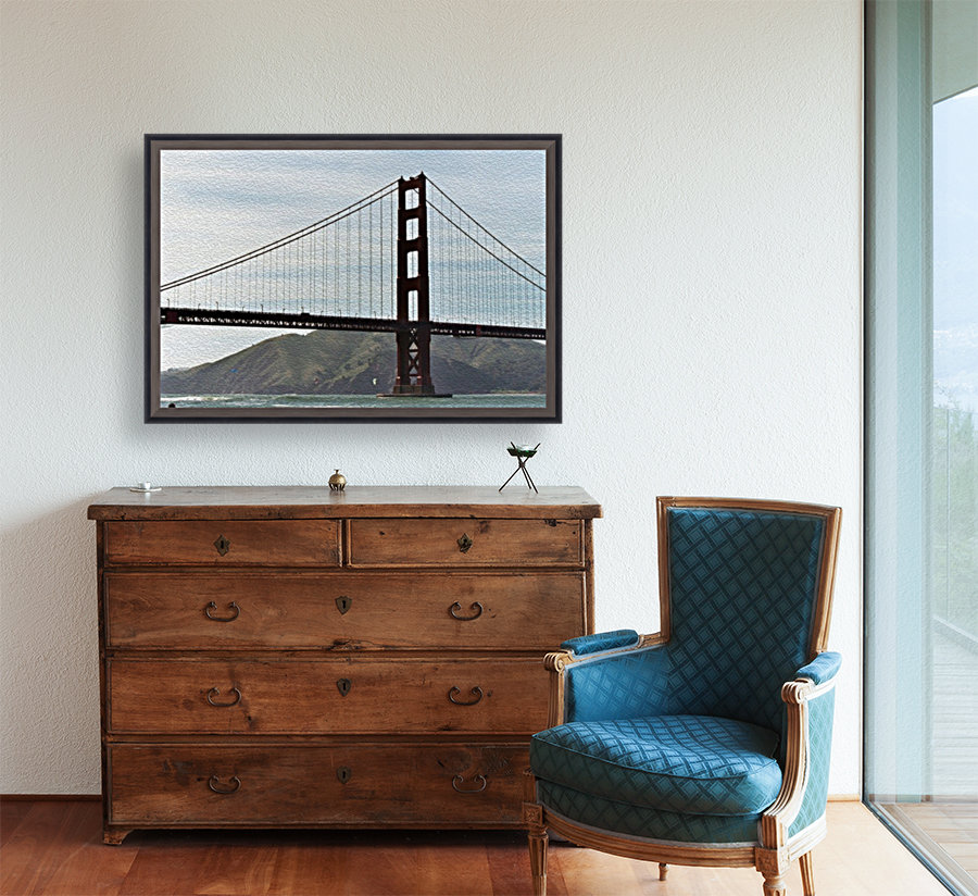 Golden Gate Bridge with Floating Frame