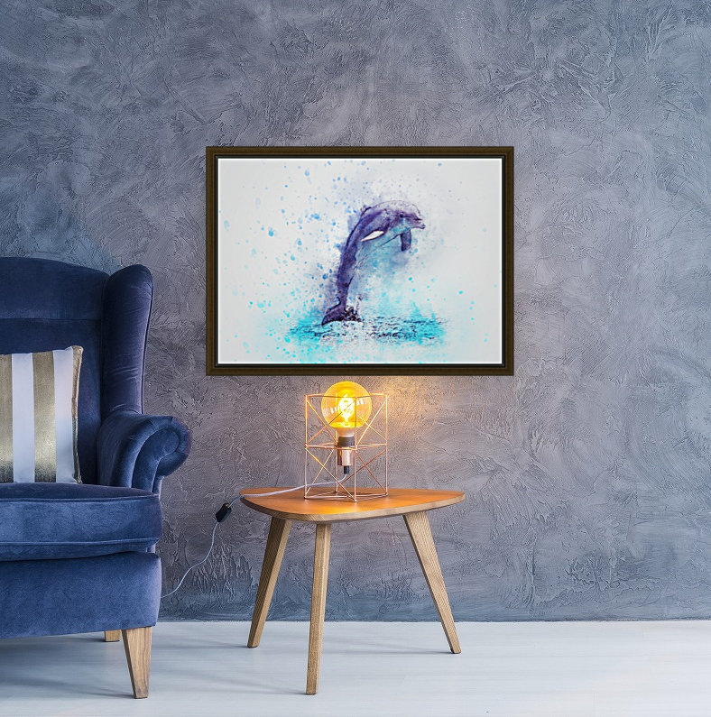 dolphin with Floating Frame