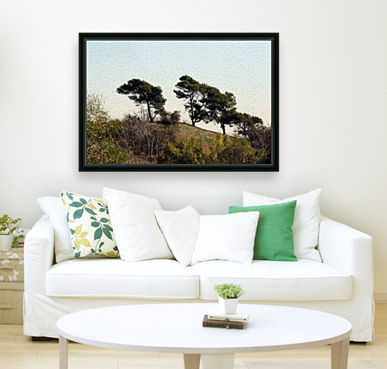 Natural Wind Blown Trees  Art