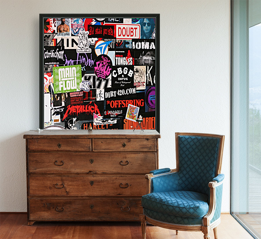 Rock & Roll Stickers with Floating Frame