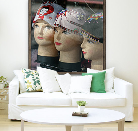Three Mannequin Heads with Bandanas  Art