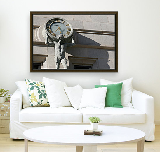 Man Holding Tiffany Clock  Art