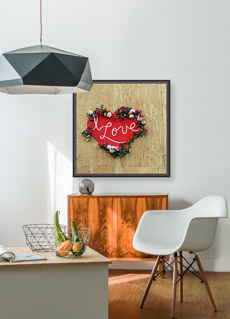 I love Heart - Square Canvas Print  Art