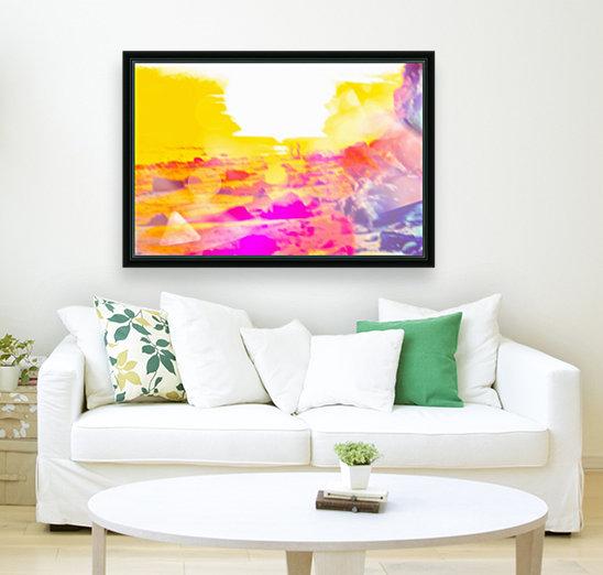 summer sunset at the beach with summer bokeh light abstract  Art