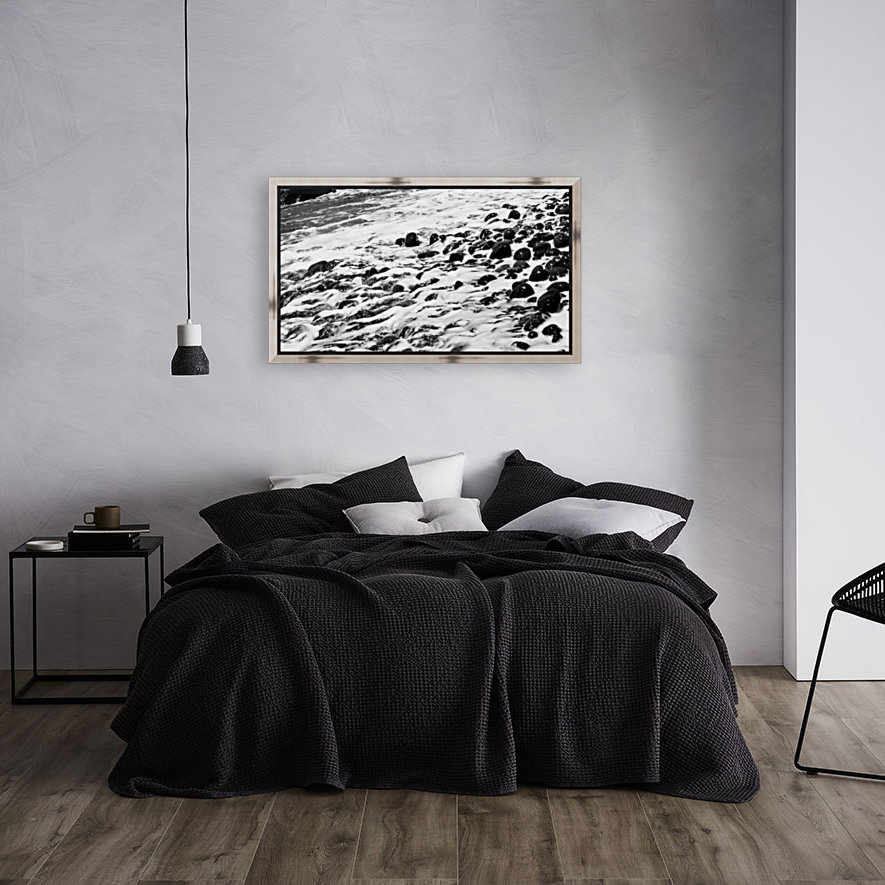 Beach Rocks Black and White II  Art
