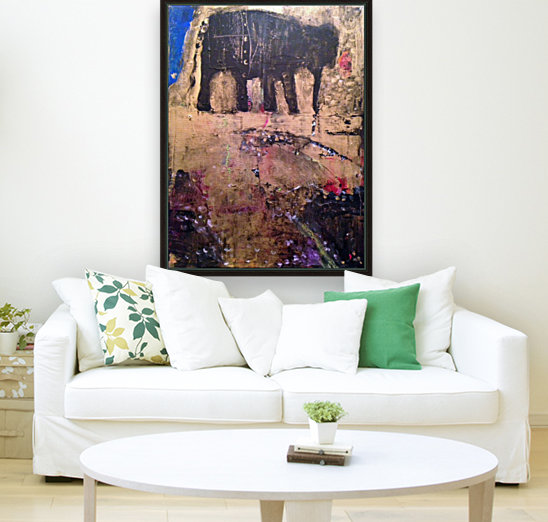 Elephant with Floating Frame
