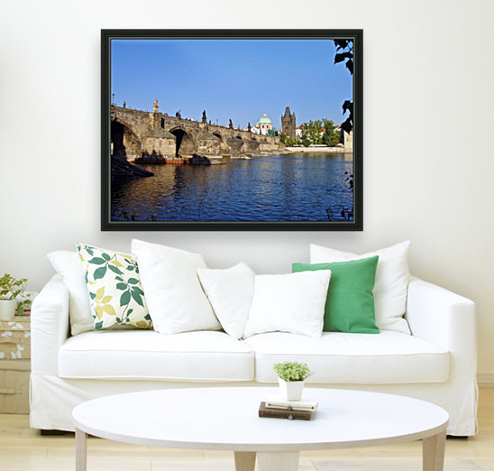 View of The Charles Bridge Prague with Floating Frame