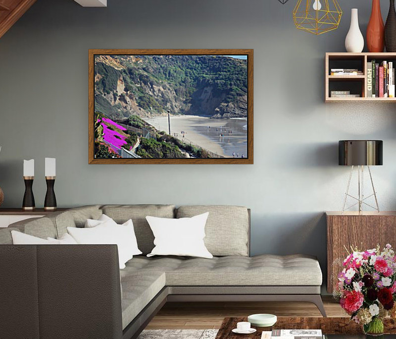 Secluded Cali fornia Beach with Floating Frame