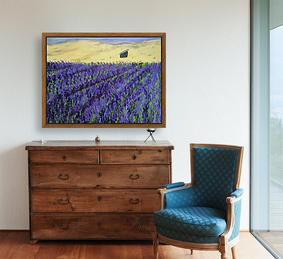 Purple Lavender fields painting  Art