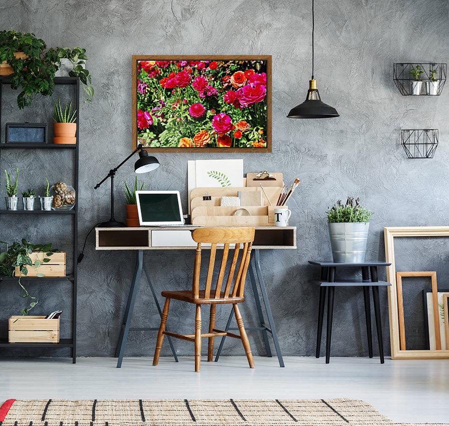 Flowers Growing in a garden  Art
