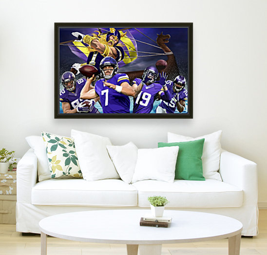 VIKINGS Football with Floating Frame