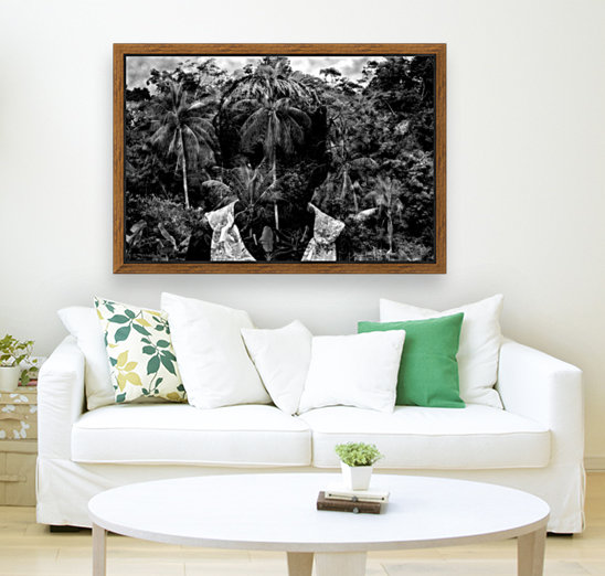 Guyana Child of the jungle  with Floating Frame