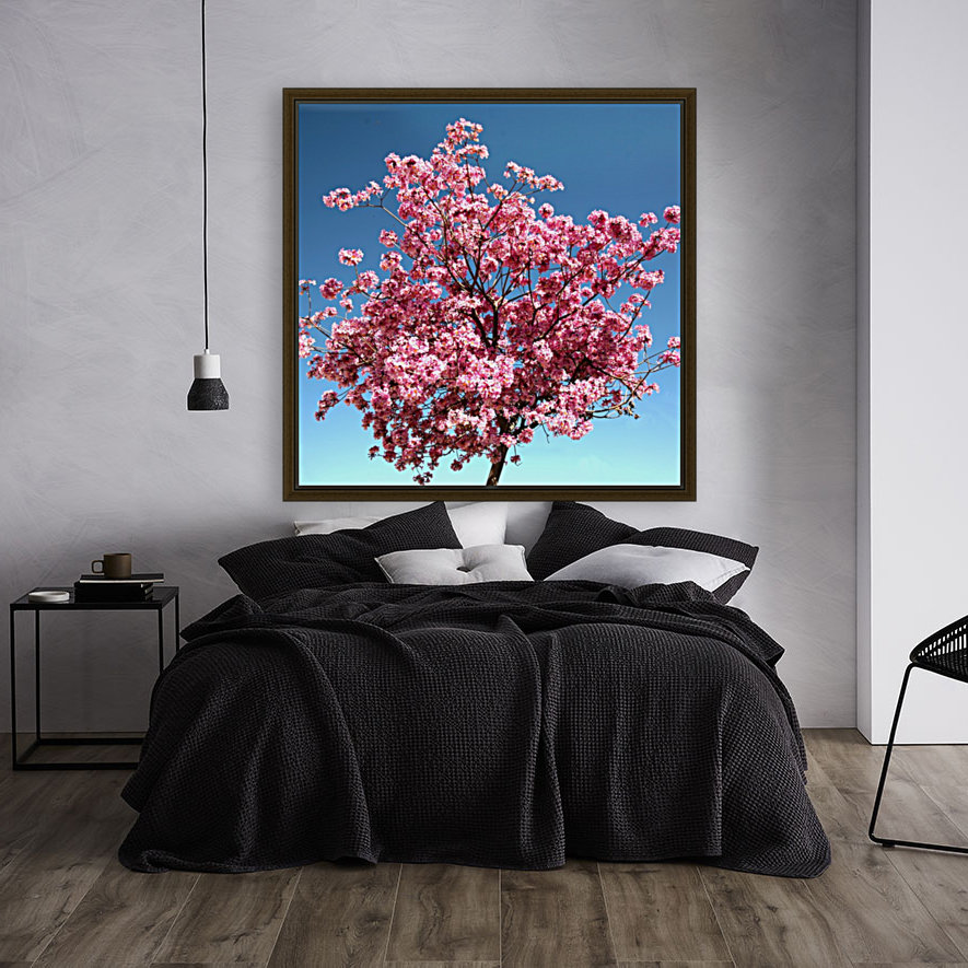 Cherry Blossom on Blue with Floating Frame