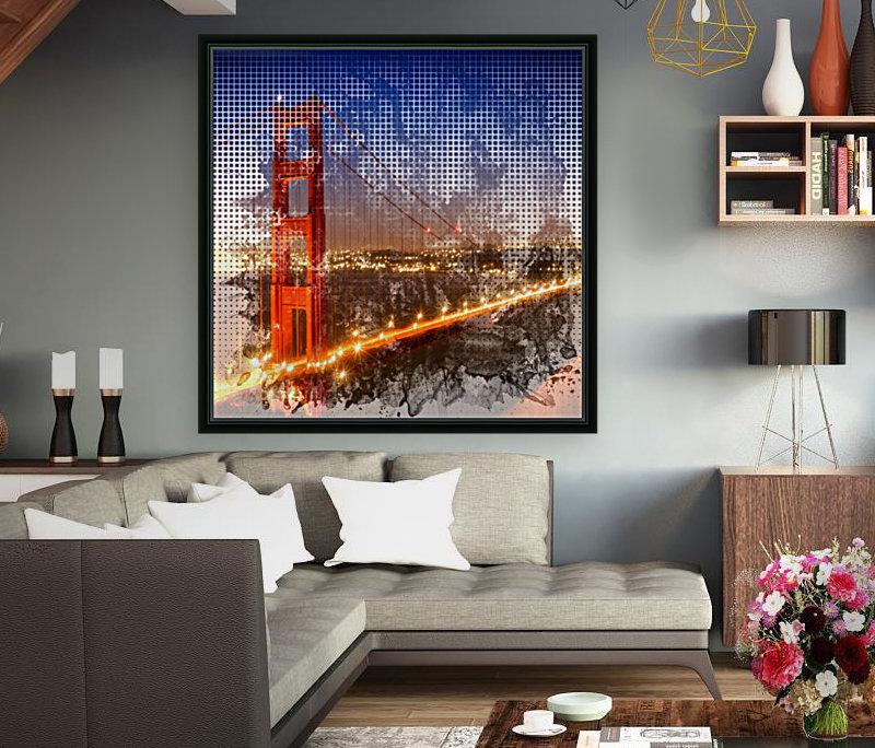 Graphic Art Golden Gate Bridge | watercolour style  Art