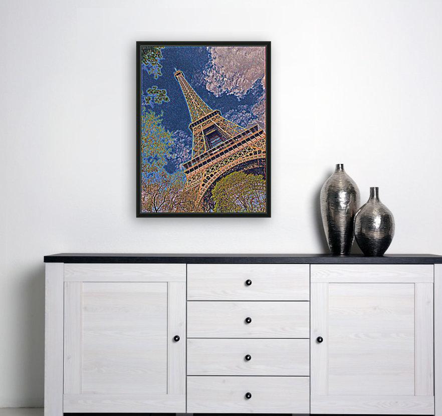 Eiffel Tower- Abstract  Art