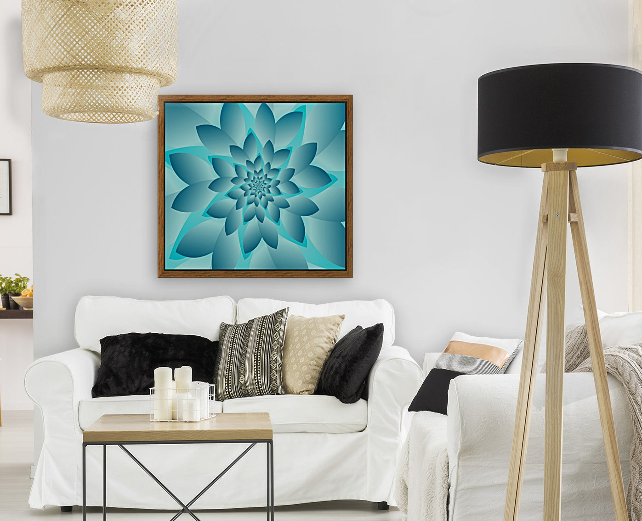 Modern Optical Illusion Floral Art  Art