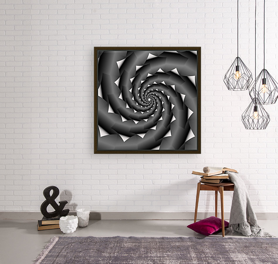 3d Abstract Spiral Design with Floating Frame