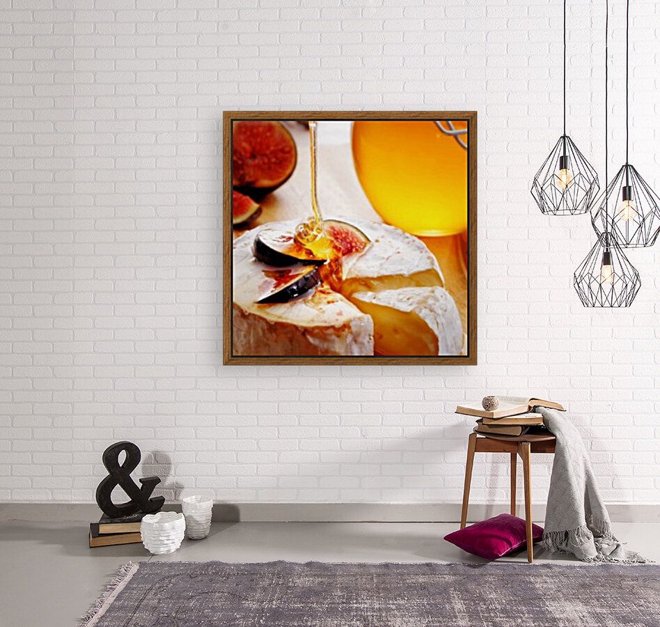 Brie Cheese with Figs and honey  Art