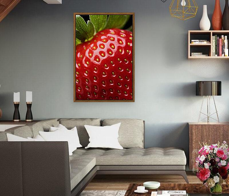 Fresh strawberry close-up  Art