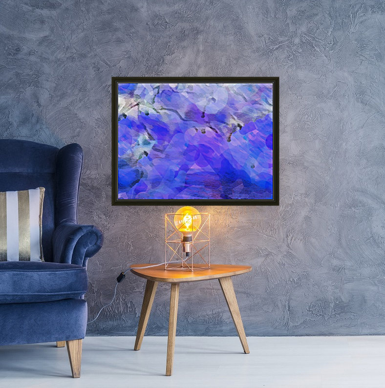 Textured Purple with Floating Frame