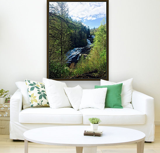 Waterfall Delight with Floating Frame