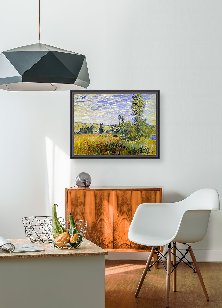 Vetheuil by Monet with Floating Frame
