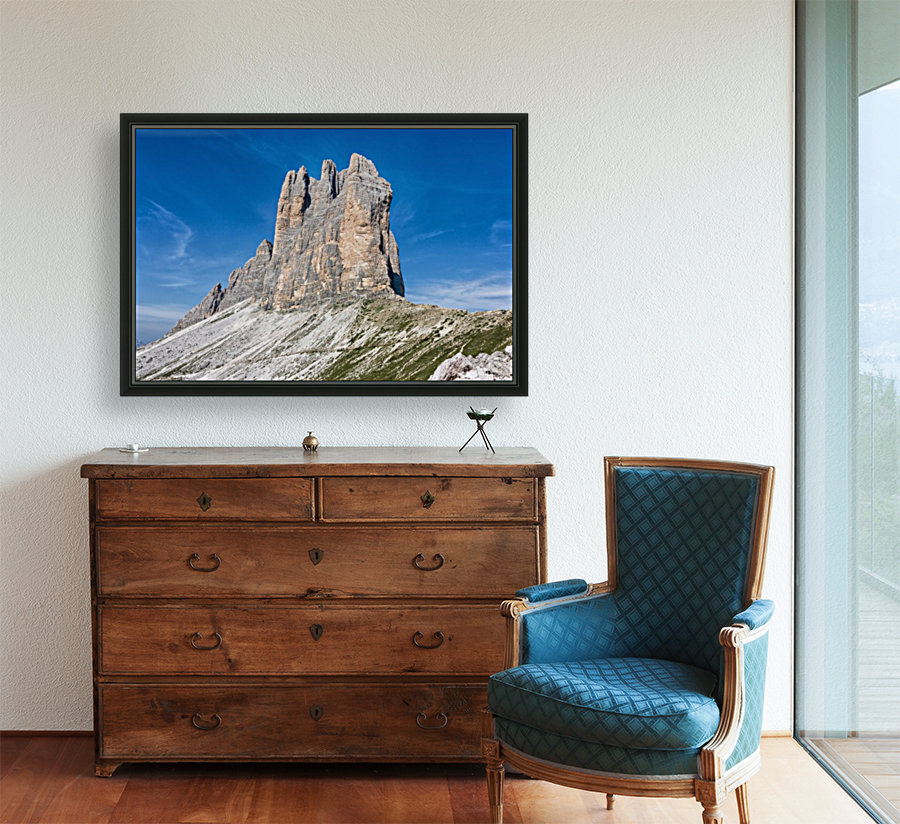 Three peaks of Lavaredo with Floating Frame