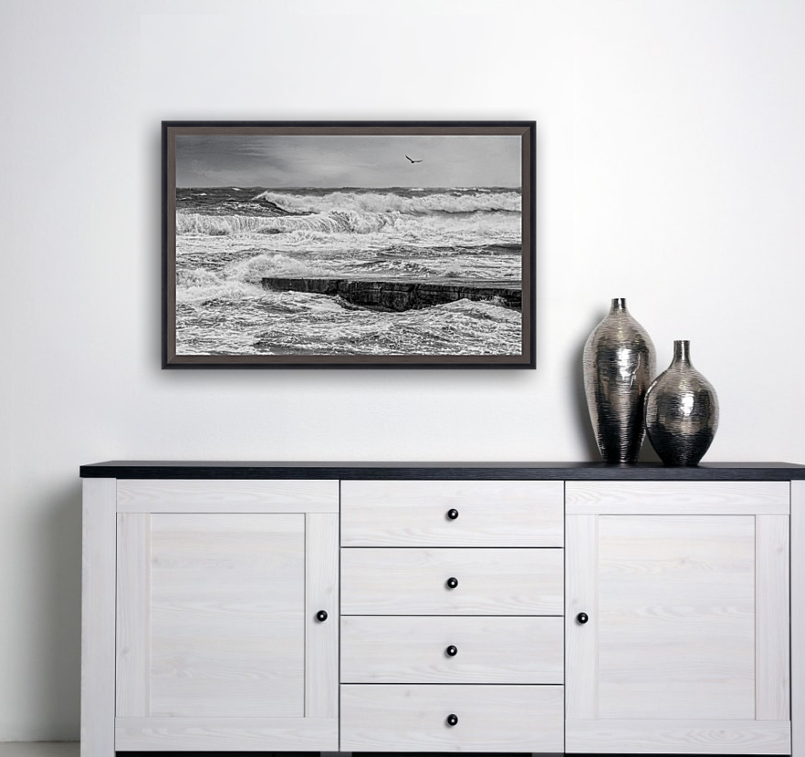 Stormy Seas with Floating Frame