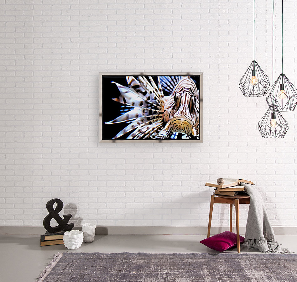Lion Fish with Floating Frame