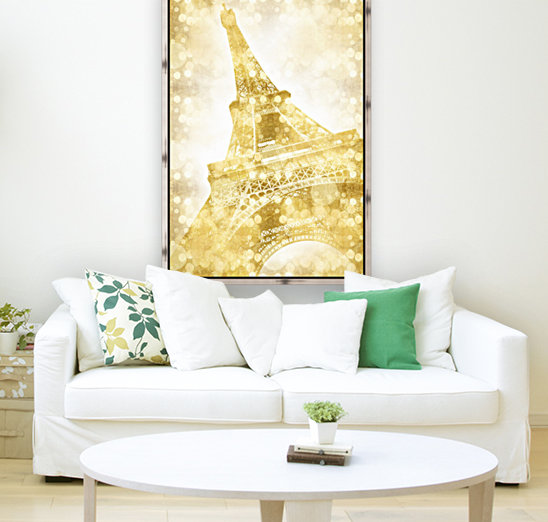 EIFFEL TOWER | golden illusion with Floating Frame