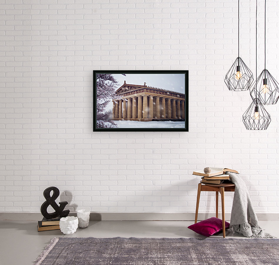Parthenon in Nashville during winter  Art