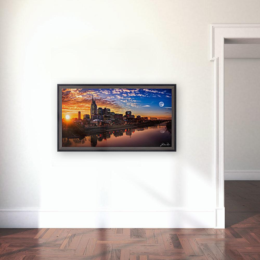 Nashville Skyline and sunset  Art