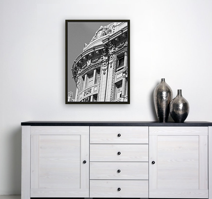 B&W Intricate Details - DTLA with Floating Frame