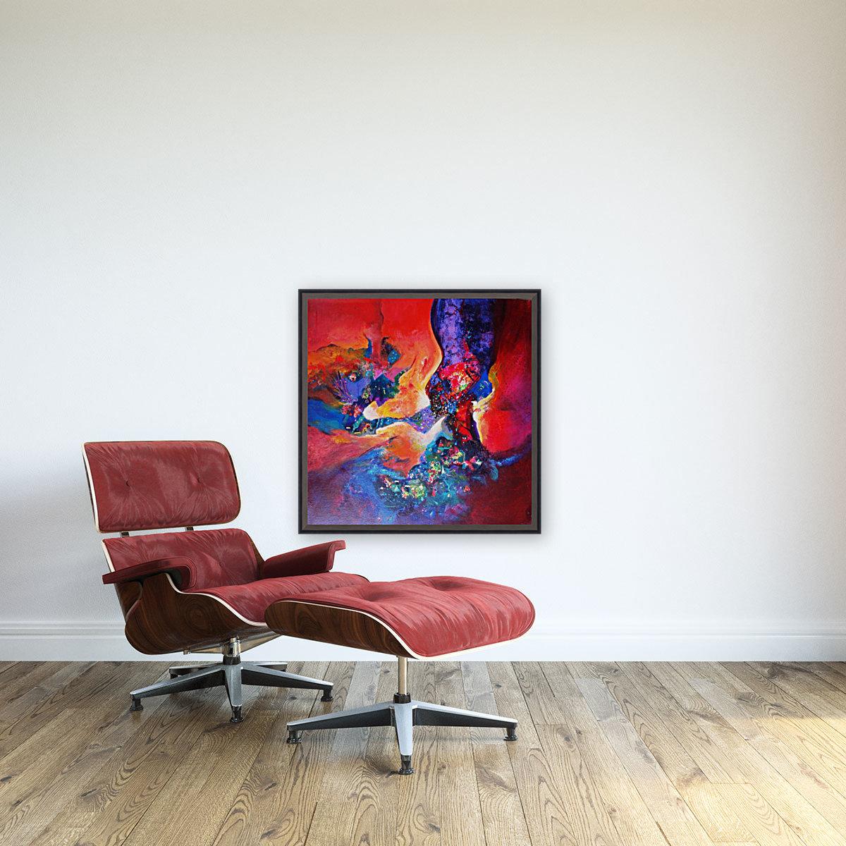harmony II,size 33 inches x33 inches, medium acrylic on canvas  Art
