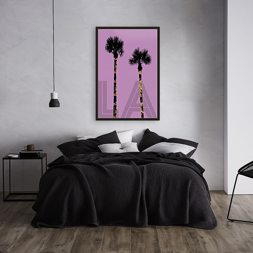 Graphic Art PALM TREES LA | pink  Art