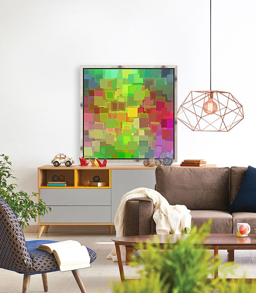 Vivid Squares with Floating Frame