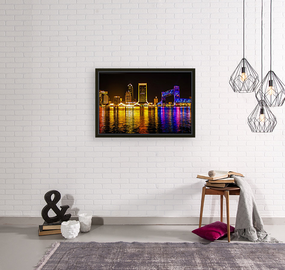City of Lights with Floating Frame