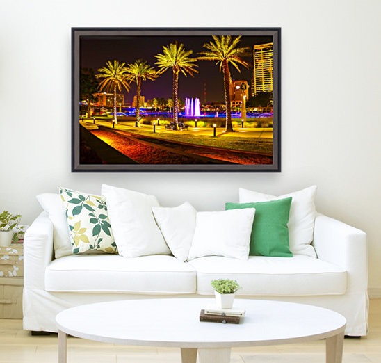 Downtown Palms with Floating Frame