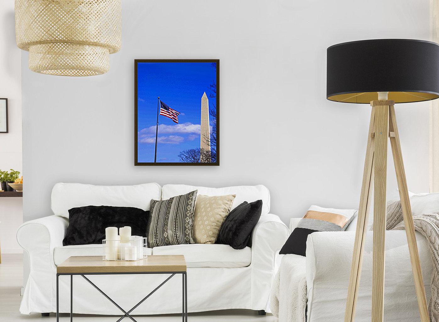 Flag & Washington Monument  Art