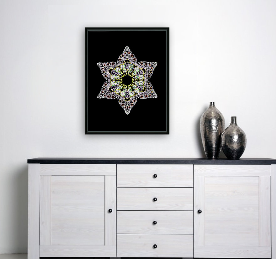 Green Star 1 with Floating Frame
