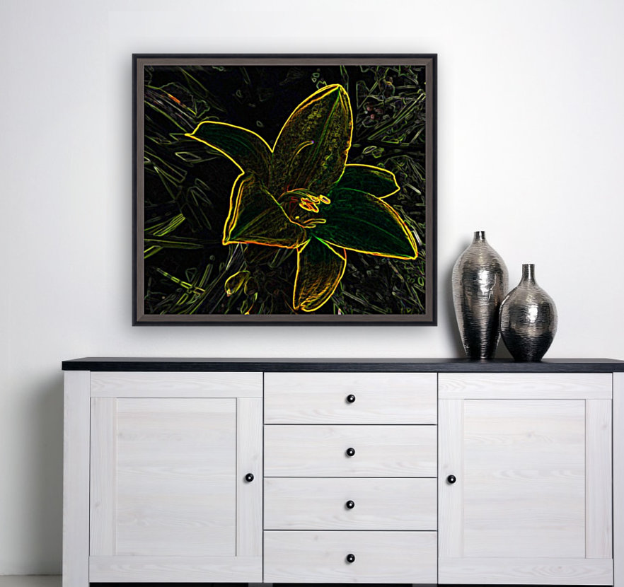 Lily with Floating Frame