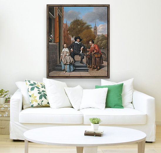 Adolf en Catharina Croeser aan de Oude Delft with Floating Frame