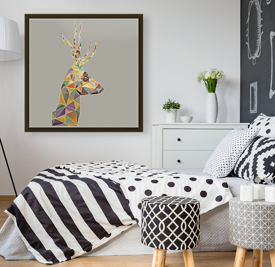 Deer mosaic with Floating Frame