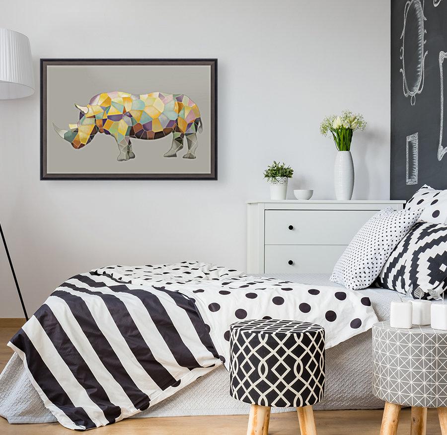 Rhino Mosaic  Art