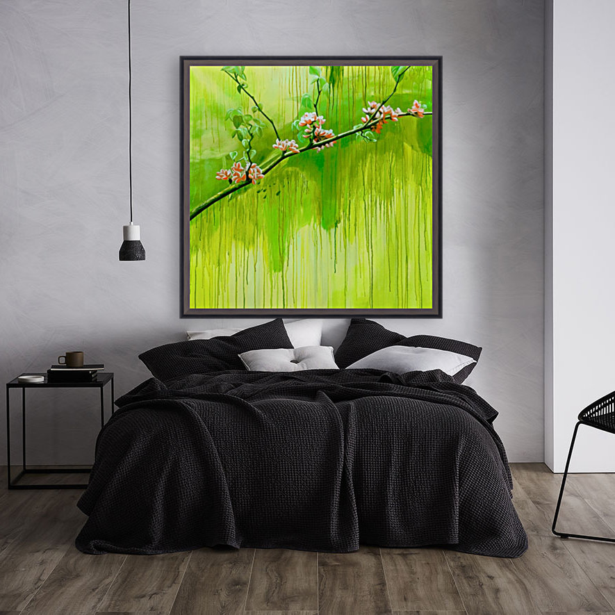 Green Spring with Floating Frame